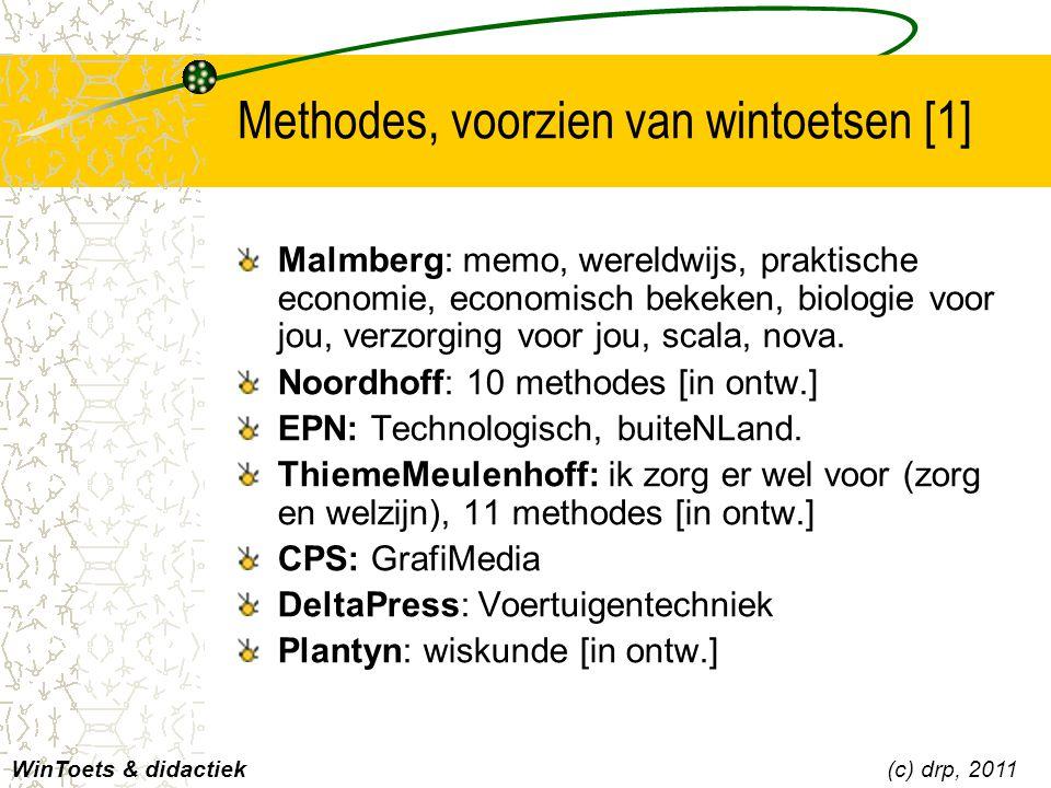Methodes, voorzien van wintoetsen [1]